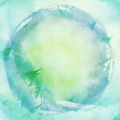 Abstract painted blue watercolor background — Stock Photo