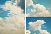 Set grunge clouds background — Stock Photo