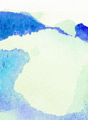 Light blue painted watercolor background — Stock Photo