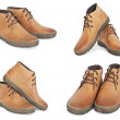 Collection of new brown leather winter boots — Stock Photo #37425257