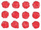 Set of ink scratched brush strokes, circle,round spots. Design element. — Stock Photo