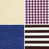 Set of different woven fabric texture — Stock fotografie