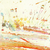 Abstract watercolor, ink splashes — Stock Photo