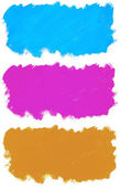 Abstract painted blue watercolor rectangles. — Stock Photo
