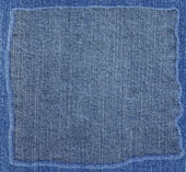 Blue jeans fabric texture with frame — Stock fotografie