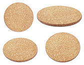 Compressed  brown cork board — Stock Photo