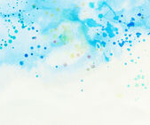 Light blue cloud and sky with watercolor splashes — Stock Photo