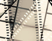 Scratched film strip background — Stock Photo