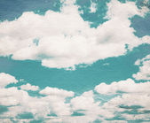 Cloud and sky on grainy paper. — Stock Photo