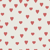 Red hearts, seamless vector pattern — Vector de stock