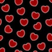 Rote Herzen - nahtloser Vektor-Muster — Stockvektor