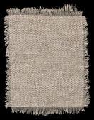 Brown flap burlap texture, piece of natural material — Stock Photo