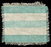 Striped flap burlap texture, piece of natural material — Stock Photo