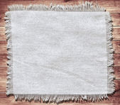 Flap burlap background, piece of natural material, can be used as background, with space for text. — Stock Photo