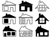 Set of houses icons — Stock Vector