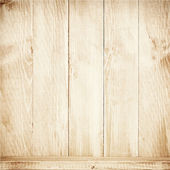 Old brown wooden planks texture with shelf. — Vettoriale Stock