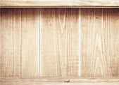 Old brown wooden planks texture with shelfs. — Stock Vector