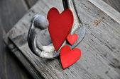 Three red hearts — Stock Photo