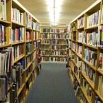 Bookshelves Full of Books inside of a Library — Stock Photo #13681166