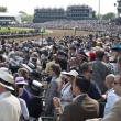 Grandstand Crowd at Kentucky Derby in Louisville, Kentucky USA — Stock Photo #13681209