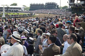 Grandstand Crowd at the Kentucky Derby in Louisville, Kentucky USA — Stock Photo