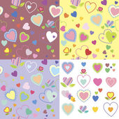 Baby seamless texture with hearts — Stock Vector