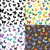 Seamless texture with butterflies — Stock Vector