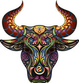 Ornamental Bull — Stock Vector