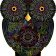 Royalty-Free Stock Immagine Vettoriale: Owl, color contour