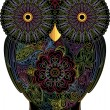 Royalty-Free Stock Imagen vectorial: Owl, color contour