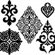 Set elements of ethnic ornament — Imagen vectorial