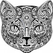 Vector de stock : Cat, black and white