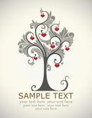 Card, tree love — Stock Vector