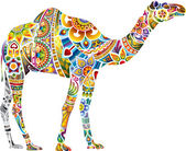 Cheerful camel, light — Stockvector