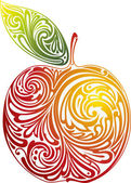 Pomme rouge. — Vecteur