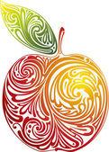 červené jablko. — Stock vektor