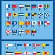 International Naval Signal Flags — Stock Vector
