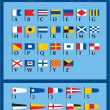 Stock Vector: International Naval Signal Flags