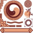 Set of Oriental Design Elements — Stock Vector #30842015