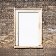 Brick window frame — Stock Photo
