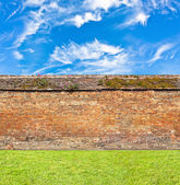 Brick wall horizontal endless seamless pattern — Stock Photo