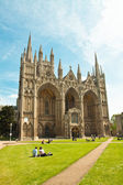 Peterborough cathedral UK Cambridgeshire — Stock Photo