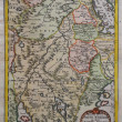 Original antique east Africa map. - Stock Photo