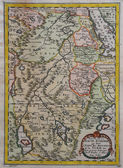 Original antique east Africa map. — Stock Photo