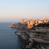 Bonifacio at sunrise, Corsica, France — Stock Photo