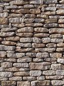 干的石墙,科西嘉,法国 — 图库照片