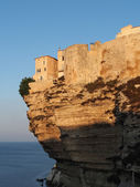 Bonifacio at sunrise, Corsica, France — Stock Photo