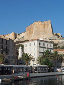 Bonifacio, august 2012, view of the genovese fortification from — Stock Photo