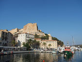 Bonifacio, august 2012, view of the genovese fortification from — Stock fotografie