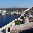 Bonifacio bay seen from the genovese fortifications — Stock Photo